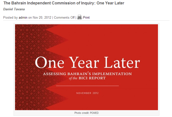 Bahrain-One-Year-Later