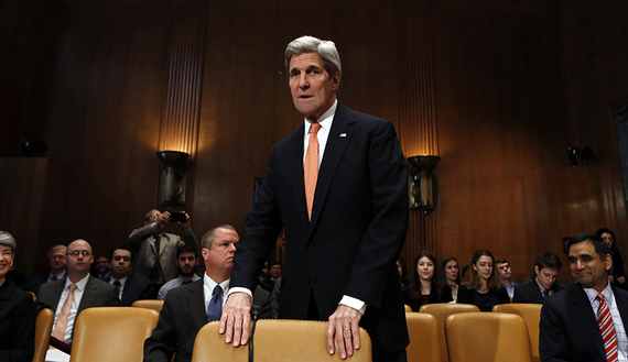 Secretary of State John Kerry testifies at a Senate Appropriations State, Foreign Operations and Related Programs Subcommittee hearing